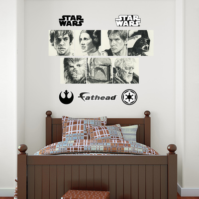 Star Wars Sketches Collection Wall Decal