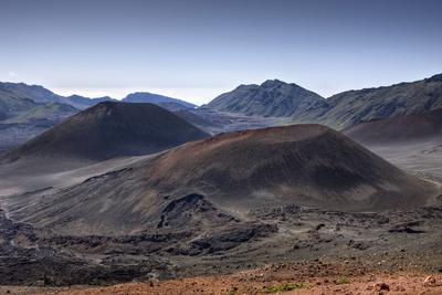 Crater of Haleakala Volcano, Maui, Hawaii, USA Photographic Print by Reinhard Dirscherl