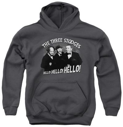 Youth Hoodie: Three Stooges - Hello Again Pullover Hoodie