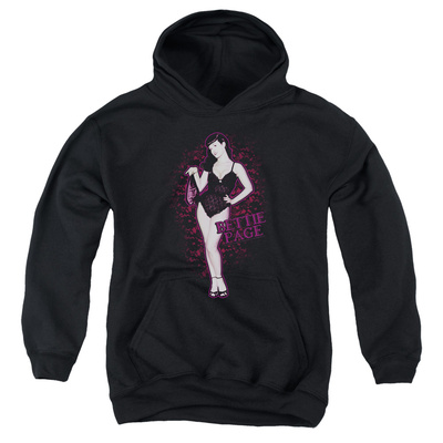 Youth Hoodie: Bettie Page - Lacy Pullover Hoodie