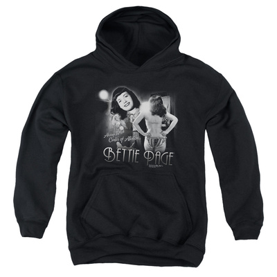 Youth Hoodie: Bettie Page - Center Of Attention Pullover Hoodie