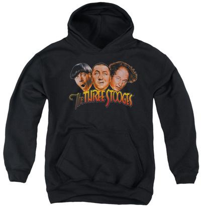 Youth Hoodie: Three Stooges – Three Head Logo Pullover Hoodie