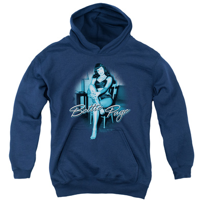 Youth Hoodie: Bettie Page - Patient Pin Up Pullover Hoodie