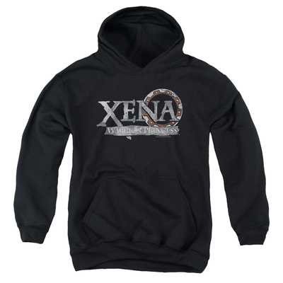 Youth Hoodie: Xena - Battered Logo Pullover Hoodie