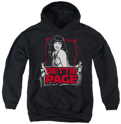 Youth Hoodie: Bettie Page - Bettie Scary Hot Pullover Hoodie