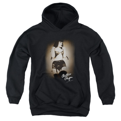 Youth Hoodie: Bettie Page - Caught Pullover Hoodie