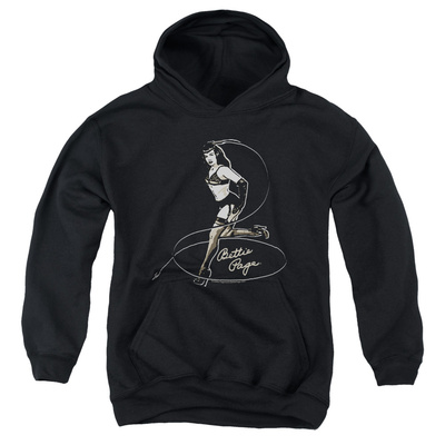 Youth Hoodie: Bettie Page - Whip It! Pullover Hoodie