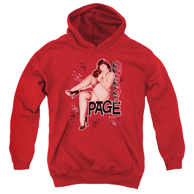 Youth Hoodie: Bettie Page - Retro Hot Pullover Hoodie