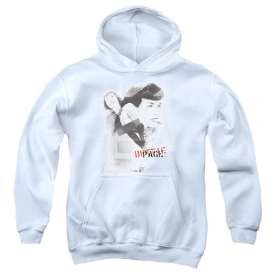 Youth Hoodie: Bettie Page - Transparent Bands Pullover Hoodie