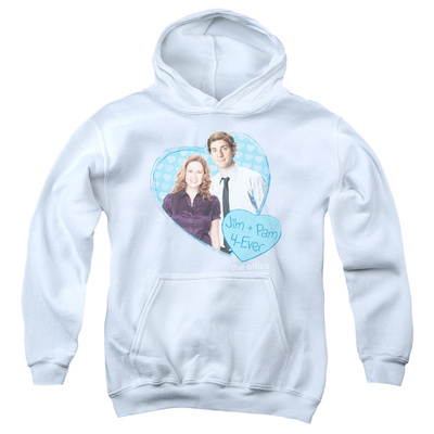 Youth Hoodie: The Office - Jim & Pam 4 Ever Pullover Hoodie