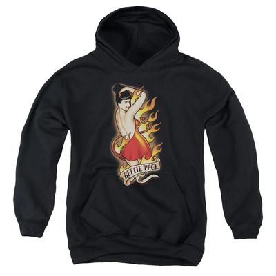 Youth Hoodie: Bettie Page - Devil Tattoo Pullover Hoodie