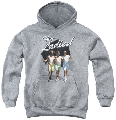 Youth Hoodie: Three Stooges - Hey Ladies Pullover Hoodie
