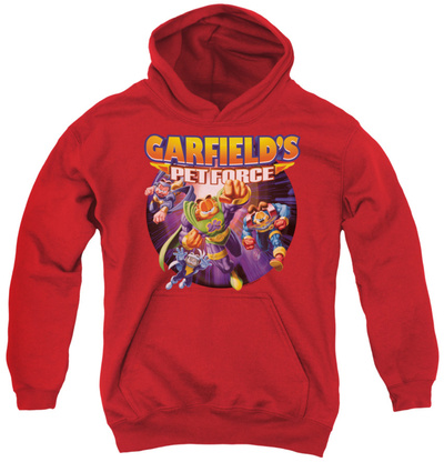 Youth Hoodie: Garfield - Pet Force Four Pullover Hoodie