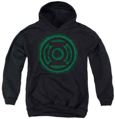 Youth Hoodie: Green Lantern - Green Flame Logo Pullover Hoodie