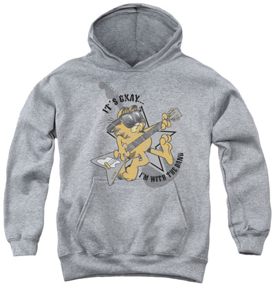 Youth Hoodie: Garfield - I'm With The Band Pullover Hoodie