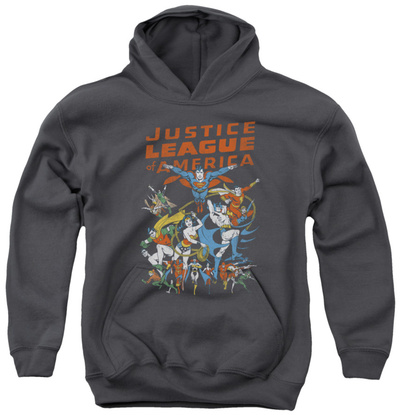 Youth Hoodie: Justice League - Big Group Pullover Hoodie
