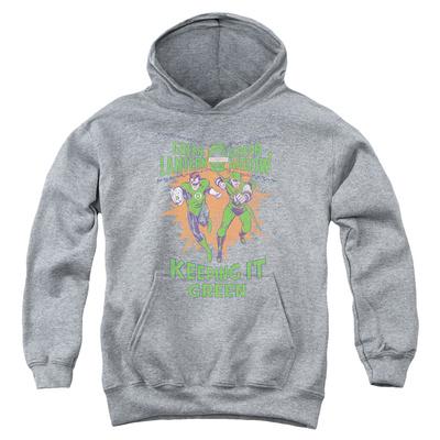 Youth Hoodie: Green Lantern - Keeping It Green Pullover Hoodie