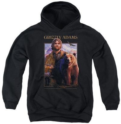 Youth Hoodie: Grizzly Adams - Collage Pullover Hoodie