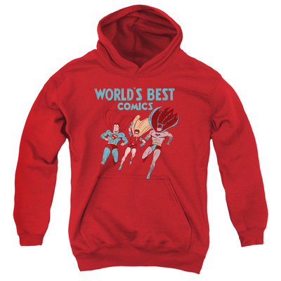 Youth Hoodie: Justice League - Worlds Best Pullover Hoodie