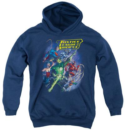Youth Hoodie: Justice League - Onward Pullover Hoodie