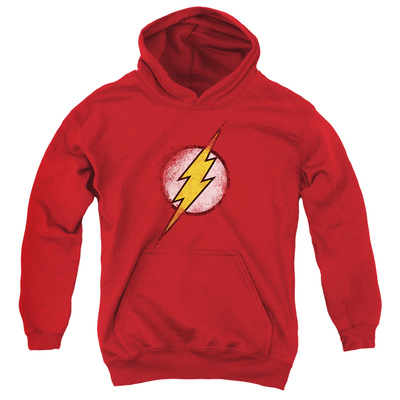 Youth Hoodie: Justice League - Destroyed Flash Logo Pullover Hoodie