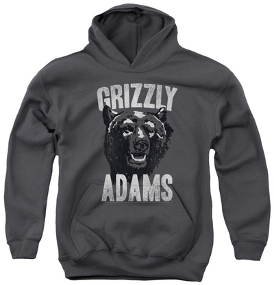Youth Hoodie: Grizzly Adams - Retro Bear Pullover Hoodie