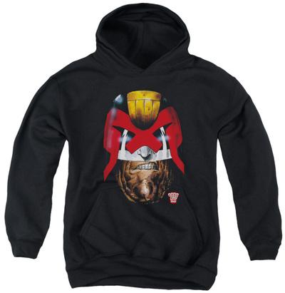 Youth Hoodie: Judge Dredd - Dredd's Head Pullover Hoodie