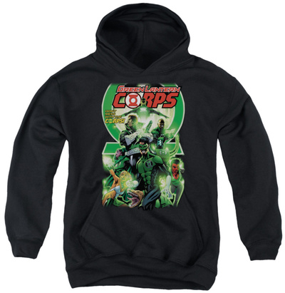 Youth Hoodie: Green Lantern - Green Lantern Corps 25 Cover Pullover Hoodie