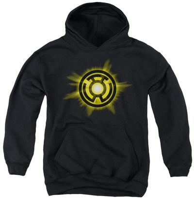 Youth Hoodie: Green Lantern - Yellow Glow Pullover Hoodie