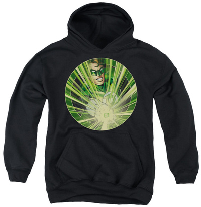 Youth Hoodie: Green Lantern - Light Em Up Pullover Hoodie