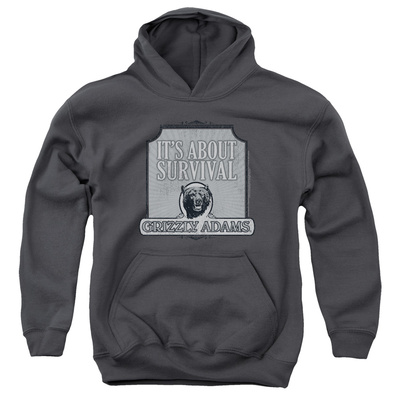 Youth Hoodie: Grizzly Adams - Survival Pullover Hoodie