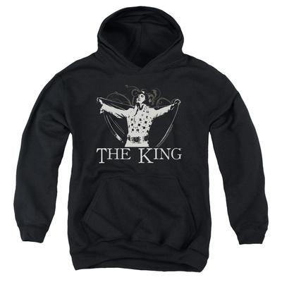 Youth Hoodie: Elvis - Ornate King Pullover Hoodie