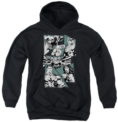 Youth Hoodie: Justice League - A Mighty League Pullover Hoodie