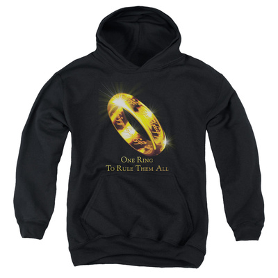 Youth Hoodie: Lord of the Rings - One Ring Pullover Hoodie