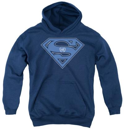 Youth Hoodie: Superman – U N Shield Pullover Hoodie