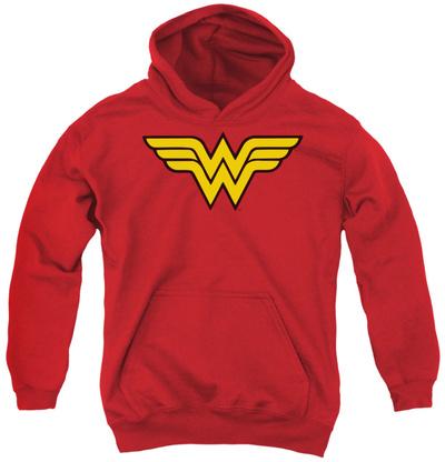 Youth Hoodie: DC Comics - Wonder Woman Logo Pullover Hoodie