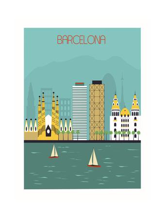Barcelona. Print by  Ladoga