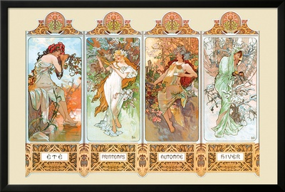 Mucha The Four Season Posters by Alphonse Mucha