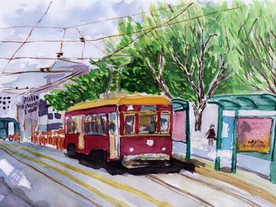 Streetcar Watercolor Sketch Prints by  jim80