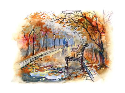 Autumn Park Poster von  okalinichenko