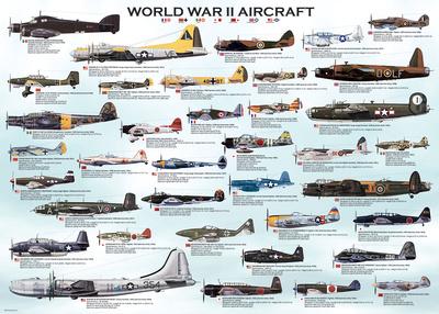 World War II Aircraft 1000 Piece Puzzle Jigsaw Puzzle