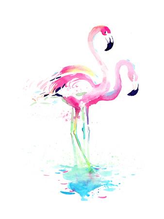 Flamingo Posters by  okalinichenko