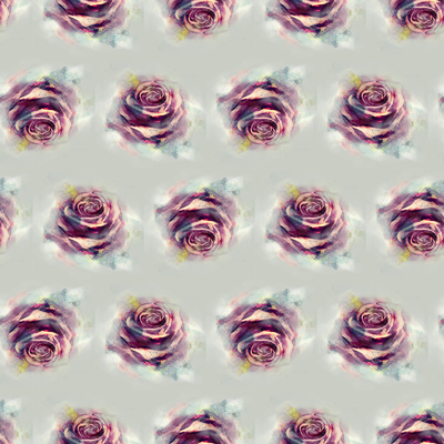 Rose.Seamless Pattern Poster by Anna Ismagilova