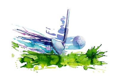 Golf Posters by  okalinichenko