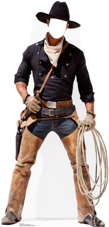 Cowboy Stand In Cardboard Cutouts
