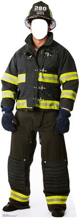 Fireman Stand In Cardboard Cutouts