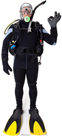 Scuba Diver Lifesize Standup Cardboard Cutouts