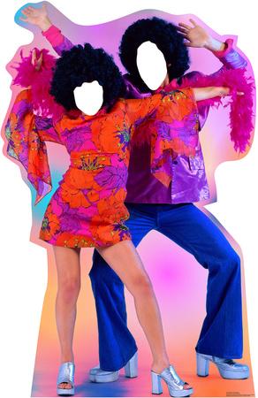 70's Dance Couple Stand In Cardboard Cutouts