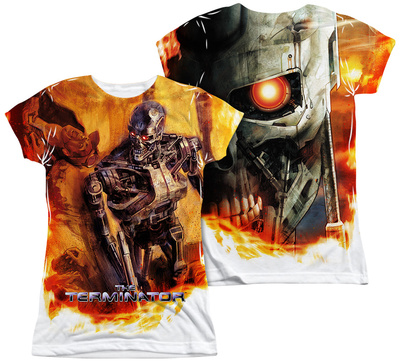 Juniors: Terminator - Killing Fields (Front - Back Print) Shirt