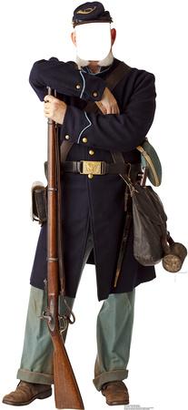 Civil War Union Soldier Stand In Cardboard Cutouts